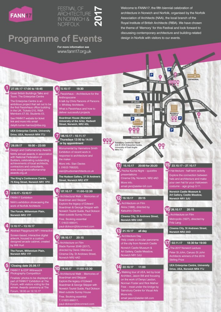 FANN17 programme of events
